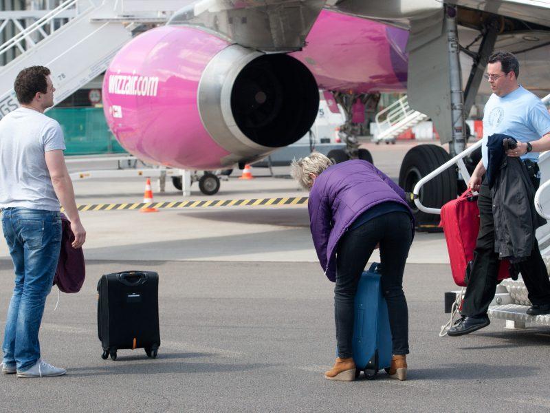 """Iš Vilniaus atšauktas """"Wizz Air"""" skrydis į Tel Avivą ir atgal"""