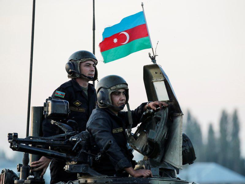 Vilniuje – protestas prieš Azerbaidžano veiksmus Kalnų Karabacho konflikte