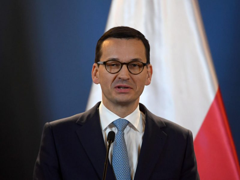 Lenkijos parlamentas pareiškė palaikymą premjero M. Morawieckio vyriausybei
