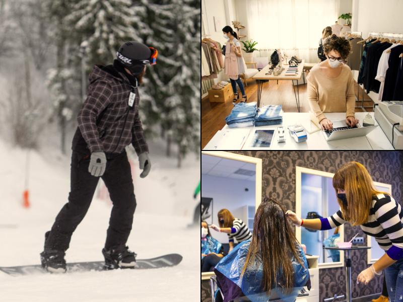 Bus siūloma leisti veikti slidinėjimo trasoms, parduotuvėms, kirpykloms