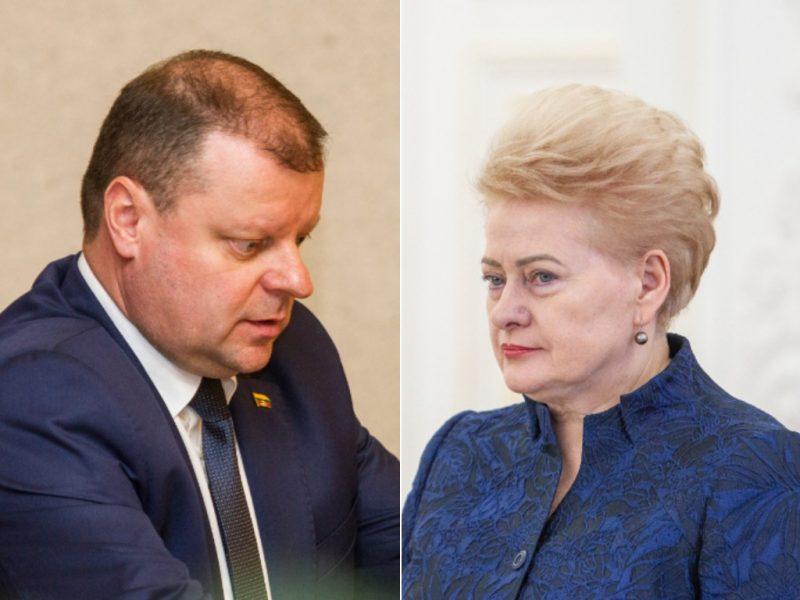 VRK: prezidentė kritikavo premjerą, o ne kandidatą į prezidentus