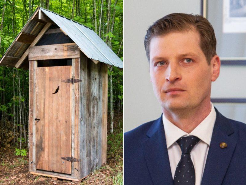 K. Mažeika: valdžia turi aktyviau raginti žmones atsisakyti lauko tualetų