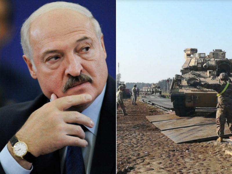 A. Lukašenkos replikos dėl JAV tankų – bandymas pasirodyti prieš Maskvą?