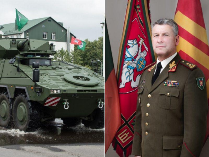 Naujas kariuomenės vadas skubins šarvuočių pirkimą, o apie naikintuvus nesvajoja