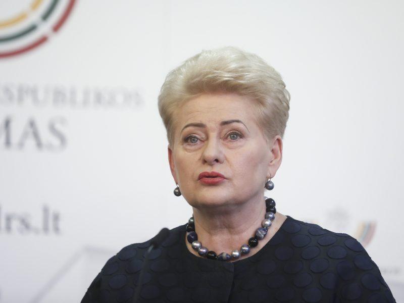 D. Grybauskaitė sako, kad viešai nerems nė vieno kandidato į prezidentus