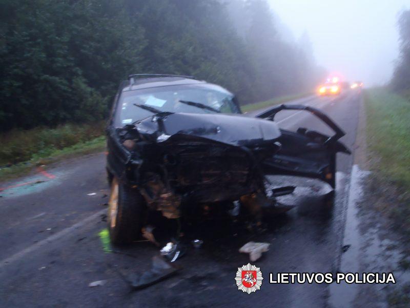 Vilniaus rajone – tragiška avarija: žuvo du žmonės