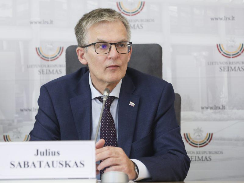 J. Sabatauskas tapo naujuoju Seimo opozicijos lyderiu