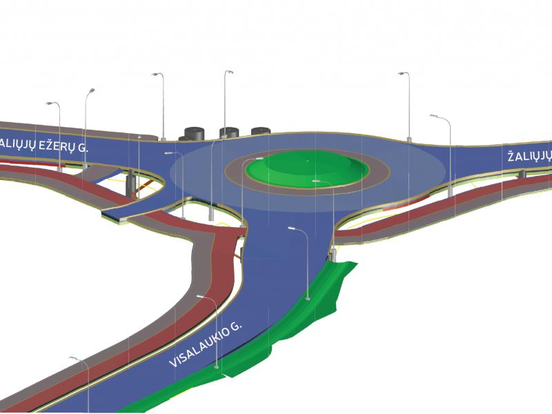 Nesaugią sostinės sankryžą pakeis eismo žiedas
