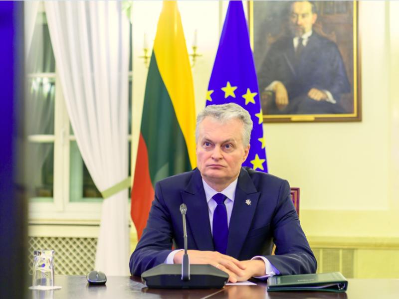 Prezidentas: Lietuva iki vasaros galės paskiepyti 70 proc. gyventojų