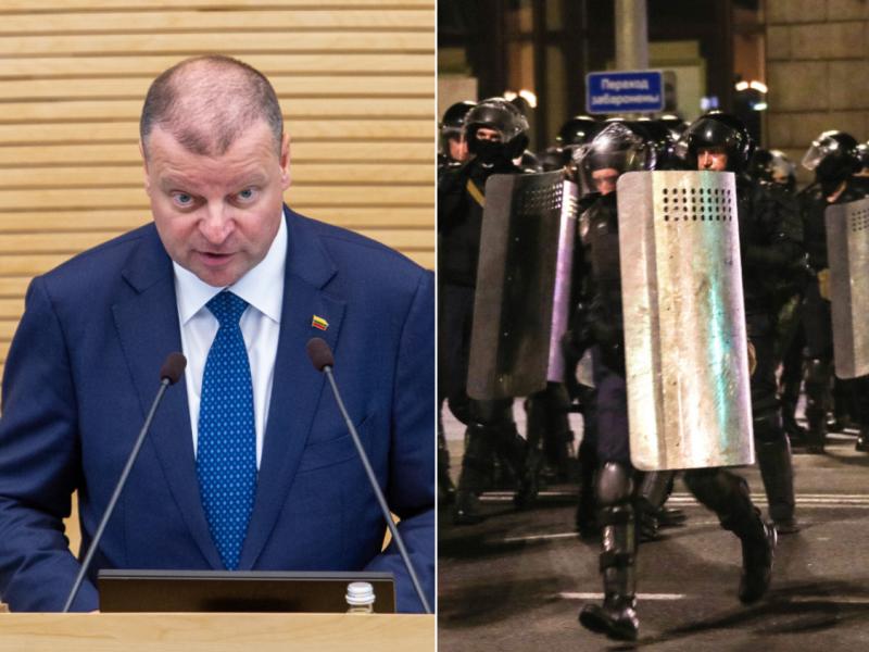 S. Skvernelis ragina Baltarusijos valdžią nenaudoti jėgos prieš savo piliečius