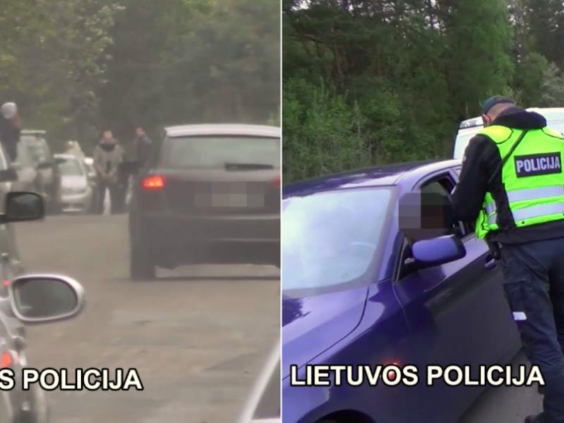 Sostinėje – nelegalios lenktynės: vairuotojams gresia didelės baudos