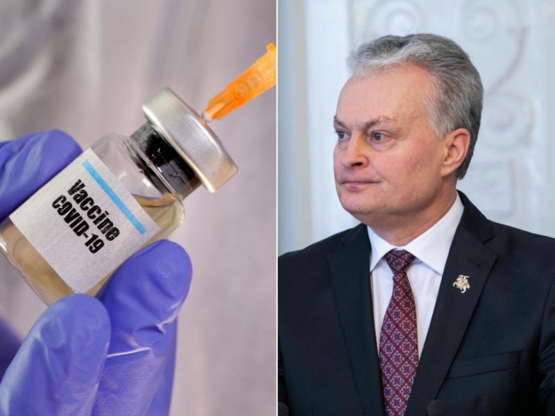 "S. Krėpšta: prezidentas nuo COVID-19 skiepytųsi ir ""AstraZeneca"" vakcina"
