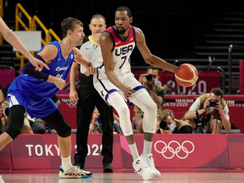 K. Duranto ir J. Tatumo vedama JAV rinktinė olimpiadoje sutriuškino čekus