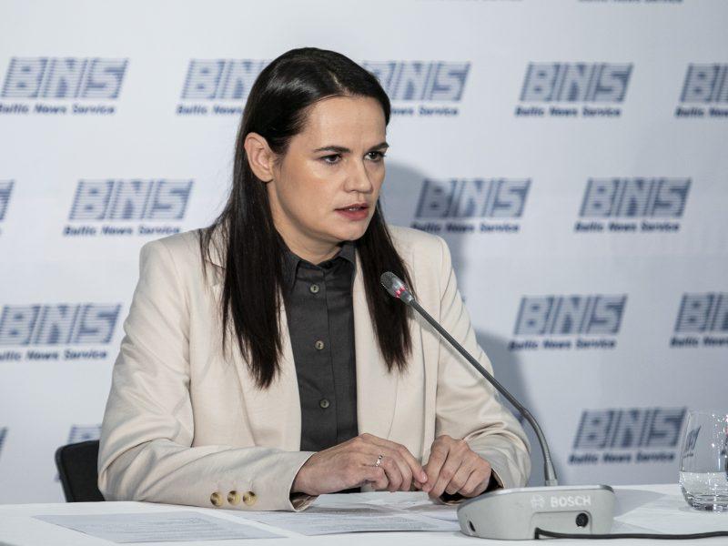 S. Cichanouskaja aptarė galimybę perkelti ledo ritulio čempionatą