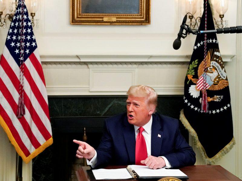 D. Trumpas: J. Bidenas įžengs į Baltuosius rūmus tik tuo atveju, jei paneigs kaltinimus sukčiavimu