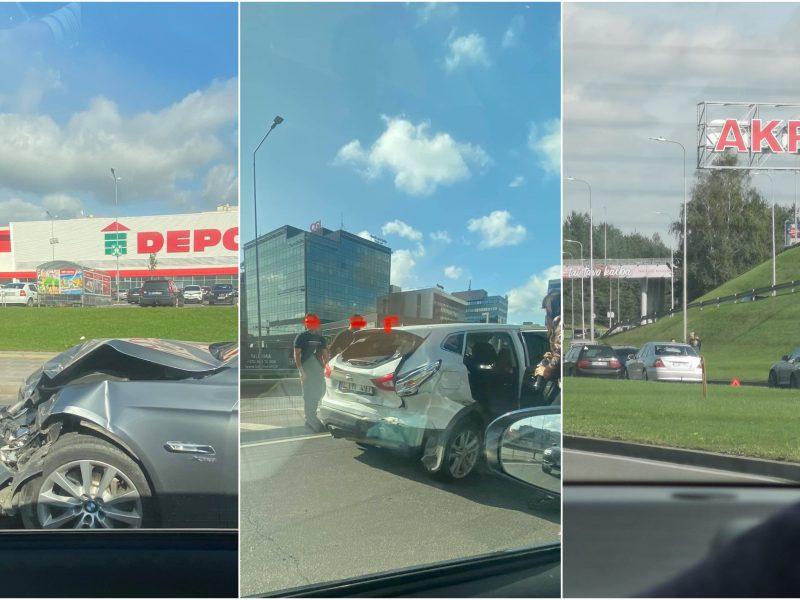 Popietę Vilniuje – dvi avarijos: į ligoninę išvežtas žmogus