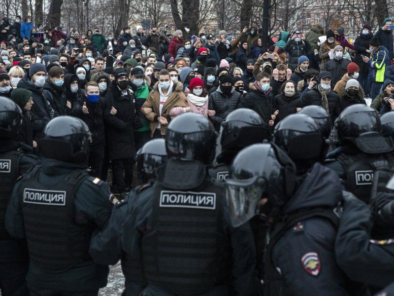 Protestų dieną Maskvoje bus apribotas pėsčiųjų judėjimas ir uždarytos kelios metro stotys