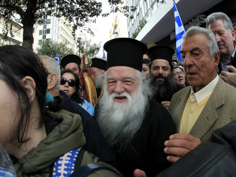 Atsistatydina už neapykantos kurstymą nuteistas graikų vyskupas