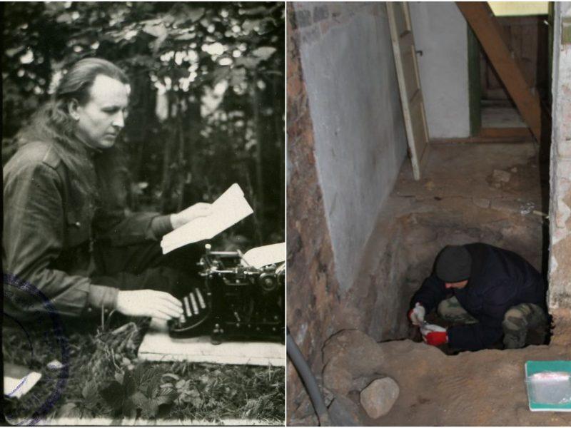 Utenos rajone rasta partizano A. Kraujelio-Siaubūno slėptuvė