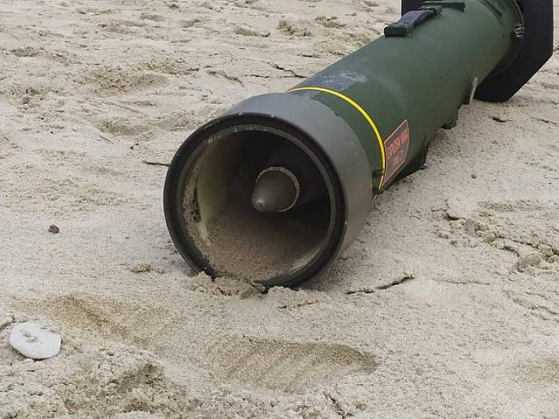 Nidos paplūdimyje – priešlėktuvinė raketa