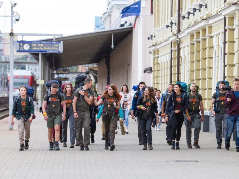 """Išlydėti ekspedicijos """"Misija Sibiras"""" dalyviai"""