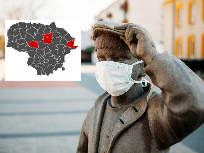 Lietuvoje liko vos keturios raudonosios COVID-19 savivaldybės