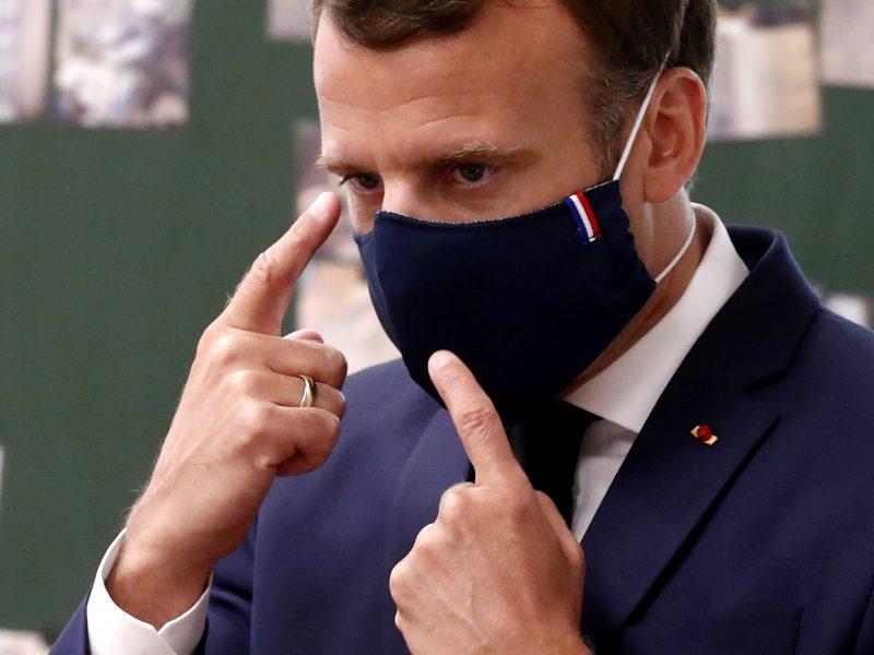 Prancūzijos prezidentas paragino pasiruošti galimam pakartotinam karantinui