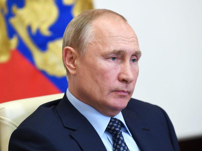 V. Putinas: Rusijoje stabilizavosi epidemiologinė padėtis