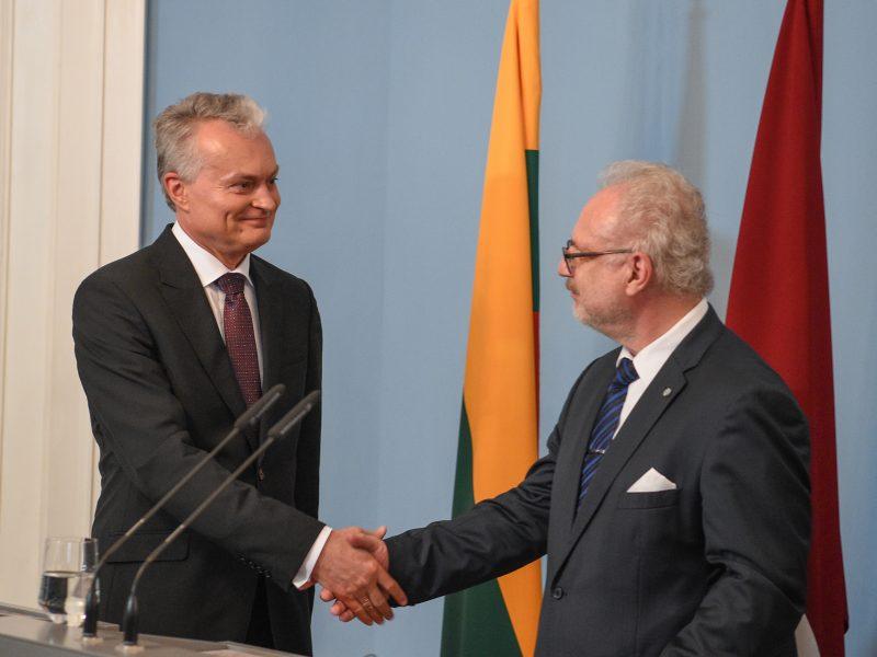 G. Nausėda susitiko su Latvijos prezidentu E. Levitu