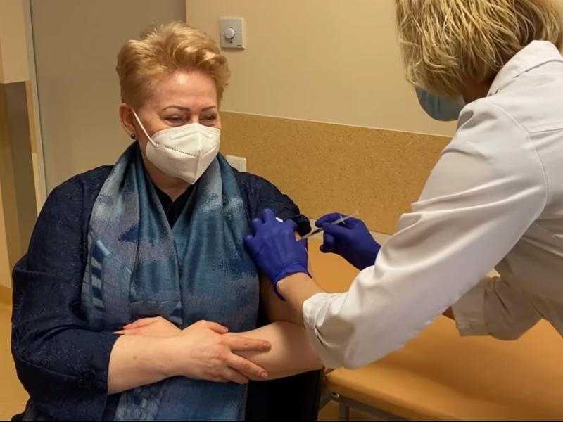 D. Grybauskaitė: vakcinavimo procesas vyksta nevaldomai