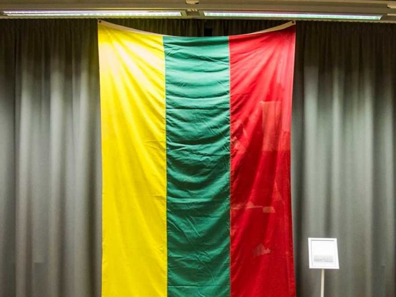 Kviečia apžiūrėti unikalią vėliavą