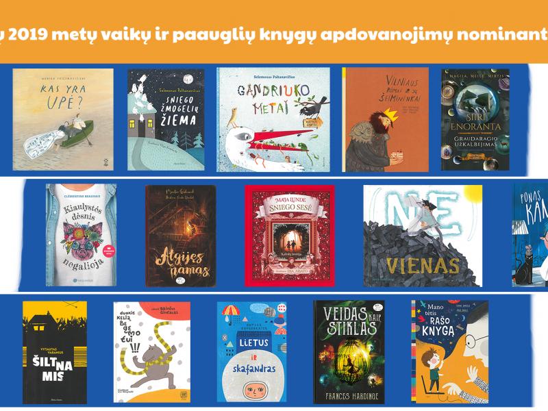 Skelbiami geriausių 2019-ųjų vaikų ir paauglių knygų apdovanojimų nominantai