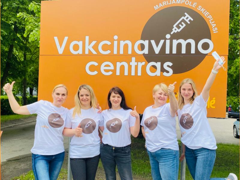 Marijampolė skelbia akciją: pasiskiepijusiųjų nuo COVID-19 laukia dovanų lietus