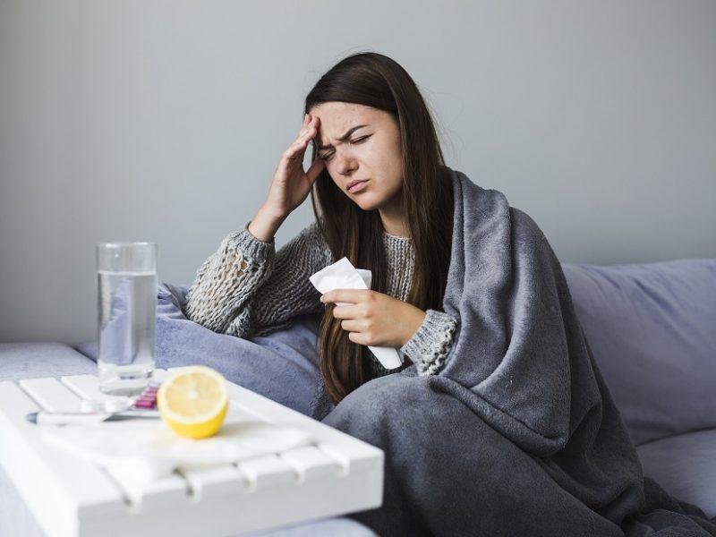 Praėjusią savaitę šiek tiek išaugo sergamumas gripu ir peršalimo ligomis