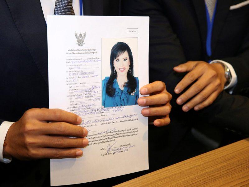 Tailando princesė išbraukta iš kandidatų į premjerus sąrašo