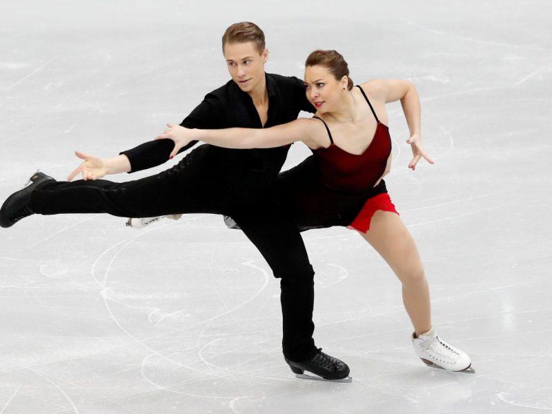 Lietuvos šokių ant ledo pora A. Reed ir S. Ambrulevičius Italijoje – šešti