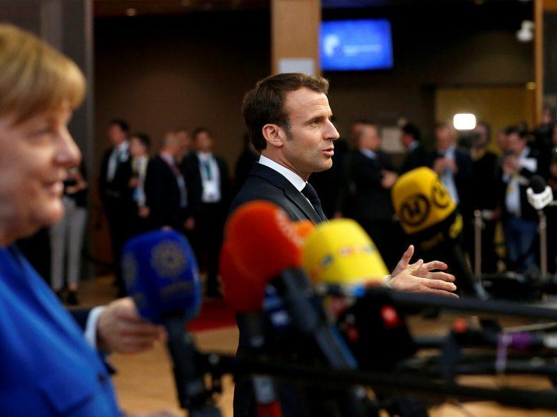 E. Macronas pripažino, kad Paryžius ir Berlynas nesutaria Europos klausimais
