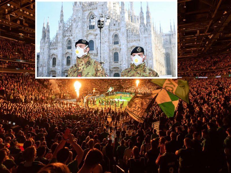 """""""Žalgiris"""" reaguoja į koronaviruso grėsmę: prašoma italų nevykti į Kauną"""