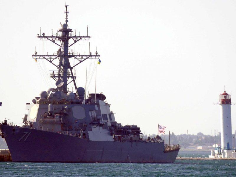 Juodojoje jūroje prasideda didelės JAV ir Ukrainos karinės pratybos