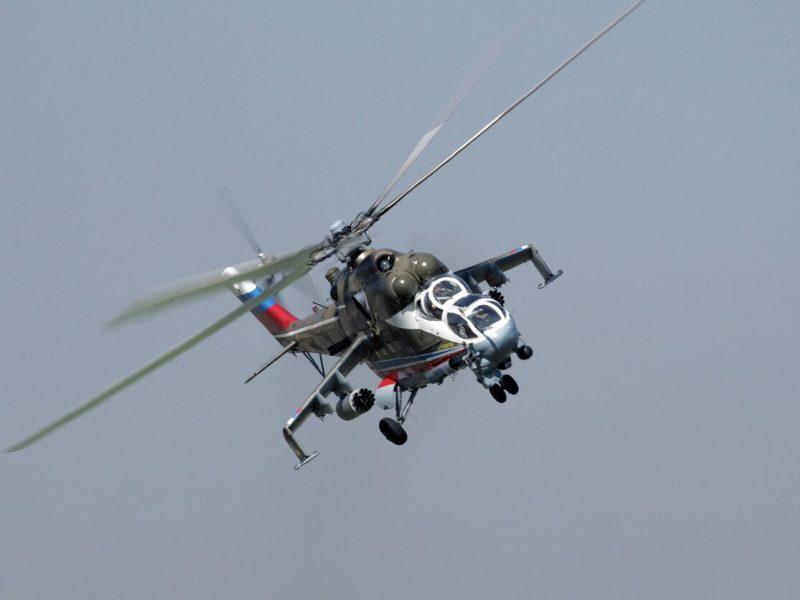 Šiaurės Sirijoje avariniu būdu leidosi Rusijos karinis sraigtasparnis, yra sužeistųjų