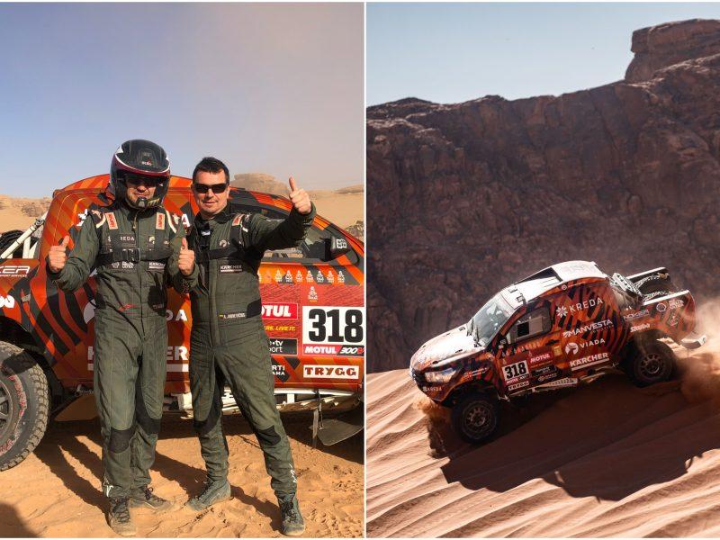 Penktąją Dakaro dieną – stabilus A. Juknevičiaus rezultatas