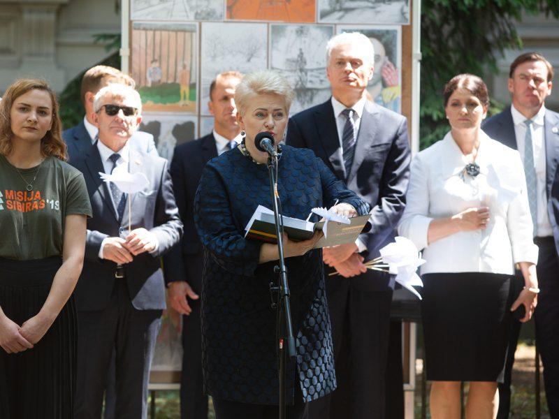 Prezidentė: Lietuva žino, ką reiškia laisvė, ką reiškia tikėti, išgyventi ir kurti