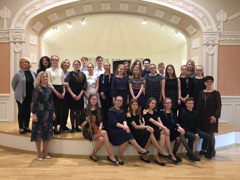 Kauno A. Kačanausko muzikos mokyklos mokiniai koncertavo Palangos Kurhauzo salėje