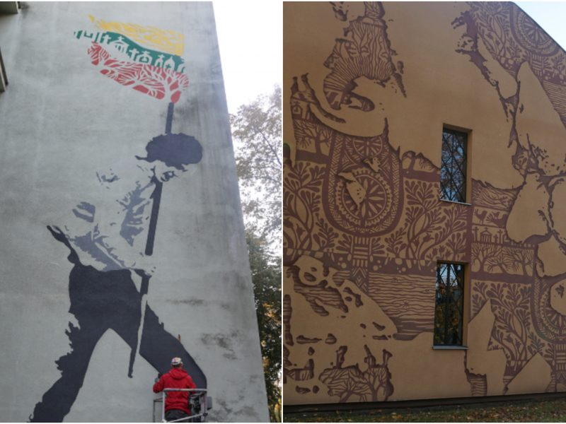 Istorijų festivalio išvakarėse Kaunas pasipuošė naujais gatvės meno kūriniais