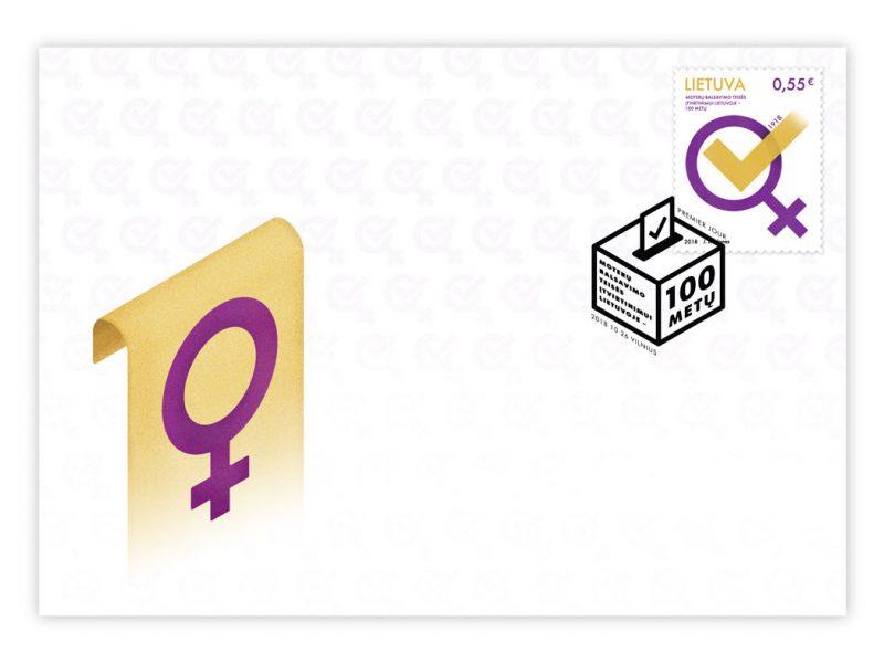 Išleidžiamas pašto ženklas moterų balsavimo teisės šimtmečiui paminėti