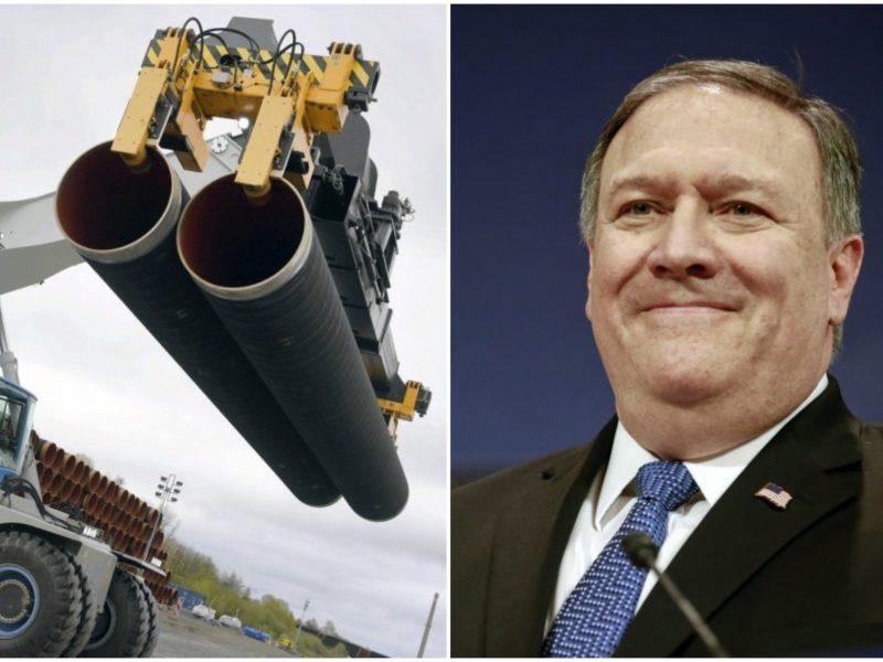 """M. Pompeo: JAV nepavyko atkalbėti Vokietijos nuo """"Nord Stream 2"""" projekto"""