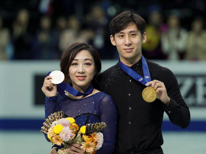 Pasaulio čempionato auksas – Kinijos čiuožėjams