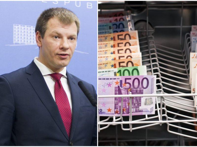 Finansų ministras: pinigų plovimo tema pradedama eskaluoti prieš rinkimus
