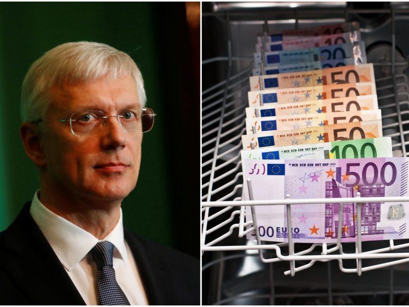 """Latvijos premjeras: per metus išvarysime pinigų plovimo """"žiurkes"""" iš šalies"""