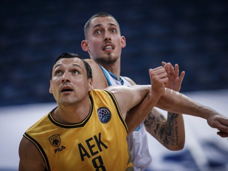 """J. Mačiulis buvo solidus, bet AEK """"Top 16"""" etape patyrė pirmą nesėkmę"""